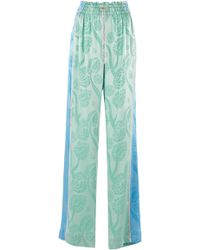 Peter Pilotto Satin Jacquard Pants - Green
