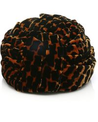 Albertus Swanepoel - Gloria Leopard-print Velvet Turban - Lyst
