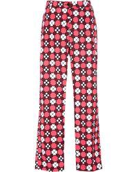 Laura Urbinati - Printed Cotton Poplin Pants - Lyst