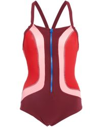 Isabel Marant Tamani Colorblocked Bodysuit - Red