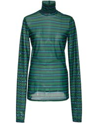 Proenza Schouler - Long Sleeve Stretch Cotton Turtleneck - Lyst