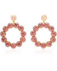 Jennifer Behr Maddox Gold-tone Crystal Earrings - Metallic