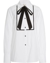 Temperley London - Mirage Tie-detailed Cotton Poplin Top - Lyst
