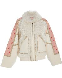 Ulla Johnson - Cosme Shearling-trimmed Felt Coat - Lyst