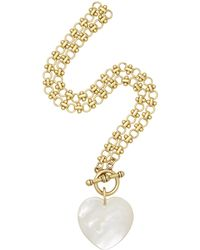 Brinker & Eliza - Plot Twist 24k Gold-plated Mother-of-pearl Necklace - Lyst
