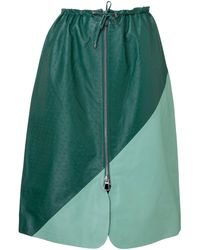 Dodo Bar Or Jonna Leather Skirt - Green