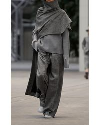 Mark Kenly Domino Tan Kalle Ribbed Wool Jumper - Grey