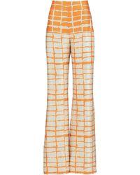 Silvia Tcherassi Como Striped Silk Wide-leg Pants - Multicolour