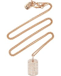 Carbon & Hyde 18k Rose Gold And Diamond Necklace - Pink