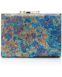 M2malletier - Holographic Leather Box Clutch - Lyst