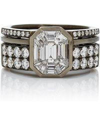 AS29 - Illusion Diamond & 18k Black Gold Ring - Lyst