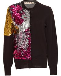 Marni - Sequined Wool Cardigan - Lyst