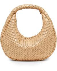Bottega Veneta Intrecciato Leather Hobo Bag - Natural