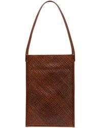 St. Agni Mini Nona Woven Sling Leather Shoulder Bag - Brown
