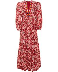Alix Of Bohemia Paradise Printed Cotton-voile Dress - Red
