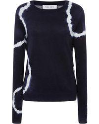 Prabal Gurung Tie-dye Crewneck Cashmere Sweater - Blue