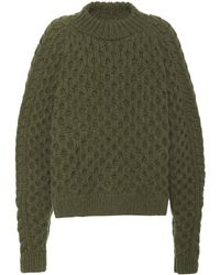 Nellie Partow - Orion Cable-knit Cashmere Sweater - Lyst