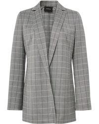 Akris - Alan Cool Wool Plaid Jacket - Lyst