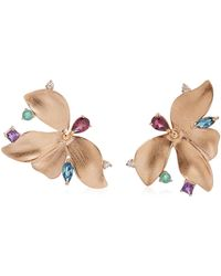 Carolina Neves Almare 18k Gold Multi-stone Earrings - Multicolour
