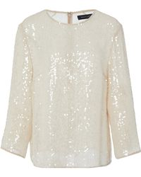 Sally Lapointe - Sequined Tulle Top - Lyst