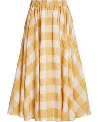 Acler Sutherland Checked Woven Full Midi Skirt - Multicolour