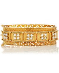 Simon Teakle - Antique 15k Gold And Pearl Bangle - Lyst