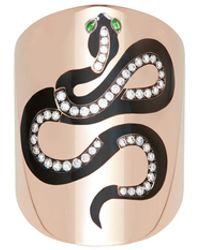 Diane Kordas 18k Rose Gold Snake Ring - Multicolor