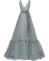 Luisa Beccaria - Cotton-blend Organdy Ball Gown - Lyst