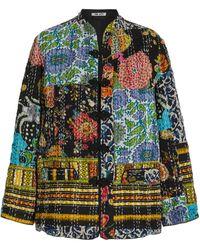 Ciao Lucia Marco Patchwork Cotton Jacket - Multicolour