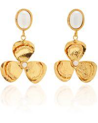 Sylvia Toledano Lucky Flower Pearl Earrings - White