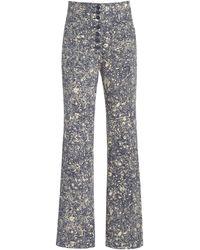 Ulla Johnson Mars High-rise Cotton Straight-leg Jeans - Blue