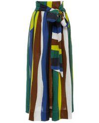 WHIT - Kimani Striped Linen Skirt - Lyst