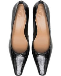 Flattered Iggy Embossed Court Shoes - Black