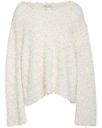 Mansur Gavriel Long Sleeve Silk Sweater - White
