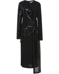 Prabal Gurung - Draped Sequin Silk Midi Dress - Lyst