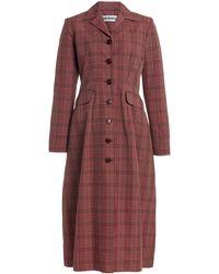 Molly Goddard Karolina Plaid Cotton-blend Coat - Multicolour