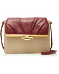 Reike Nen Pebble Middle Color-block Leather Bag - Multicolor
