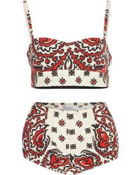 RED Valentino - Bandana Print Bra And Panty - Lyst