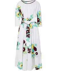 Yvonne S - Belted Stretch-cotton Maxi Dress - Lyst