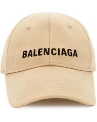 Balenciaga Logo-embroidered Classic Baseball Cap - Natural