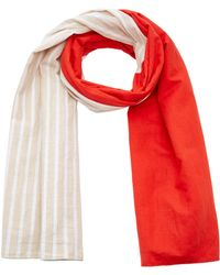 DONNI. - Striped Linen-gauze Scarf - Lyst