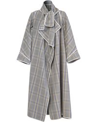 Maticevski Protector Crepe Overcoat - Grey