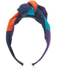 Benoit Missolin Elli Bow-embellished Silk Headband - Blue