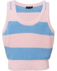 Prada Stripe Sweater Tank - Blue