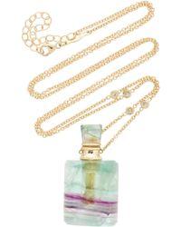 Jacquie Aiche - Medium Rectangle Fluorite Potion Bottle Necklace - Lyst