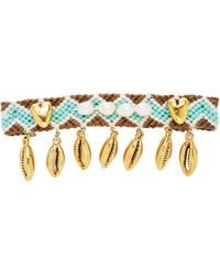 Brinker & Eliza Blissed Out Friendship 24k Gold-plated Brass Hair Clip - Blue