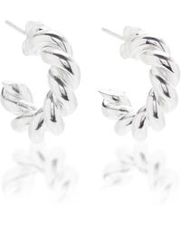 ISABEL LENNSE Extra Small Sterling Silver Hoop Earrings - Metallic