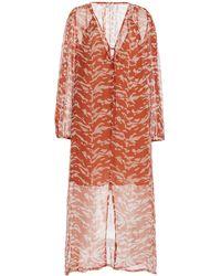 Cloe Cassandro Lea Printed Silk Midi Dress - Multicolour