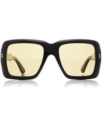 Gucci - Oversized Square Acetate Sunglasses - Lyst