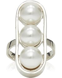 Sophie Buhai Sterling Silver And Faux Pearl Ring - White